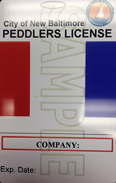 Peddler License Front